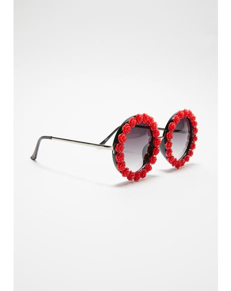 Rosy Days Circle Sunglasses