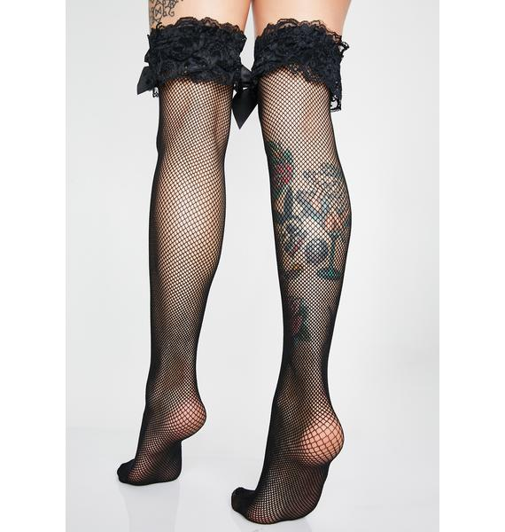 Come On Over Fishnet Thigh Highs