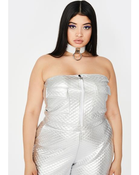 Chrome Please Love Me Softly Cargo Tube Top