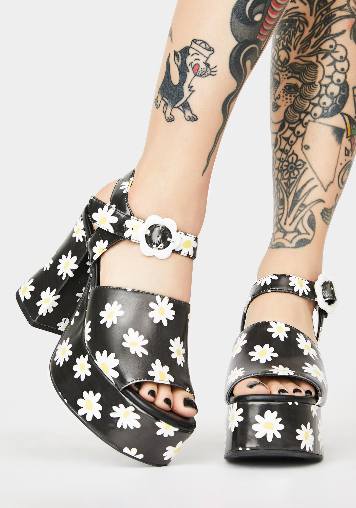 dELiA*s by Dolls Kill What's The Buzz Platform Heels