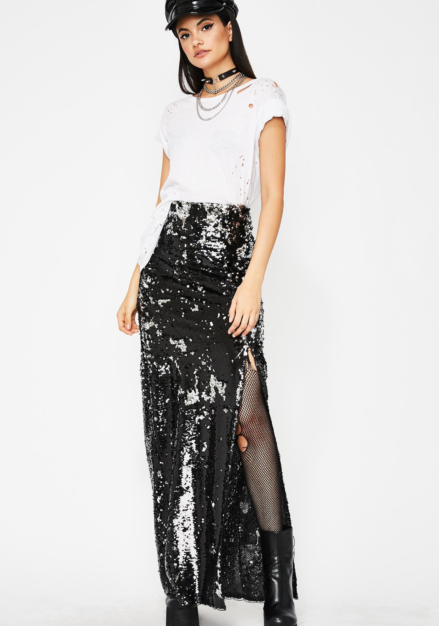 Sequin Skirt Women's Clothing