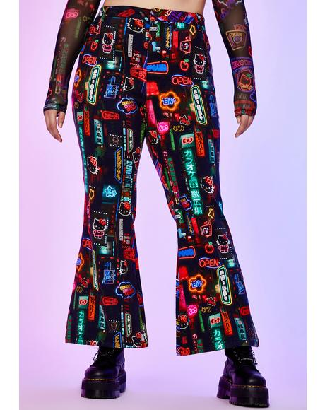 Perfect Pixel City Flare Pants
