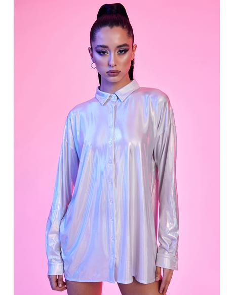 Spaced Out Holographic Shirt