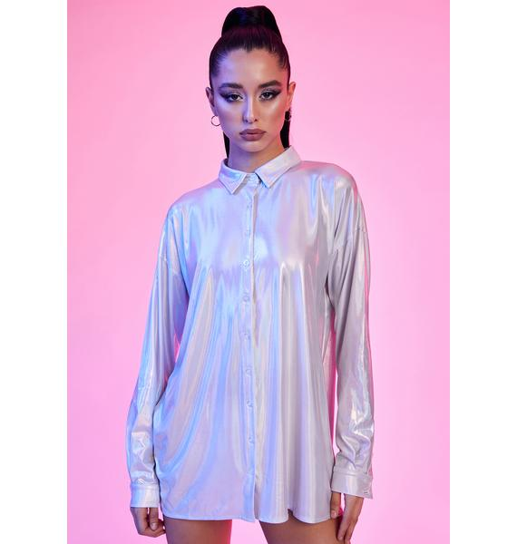 Current Mood Spaced Out Holographic Shirt