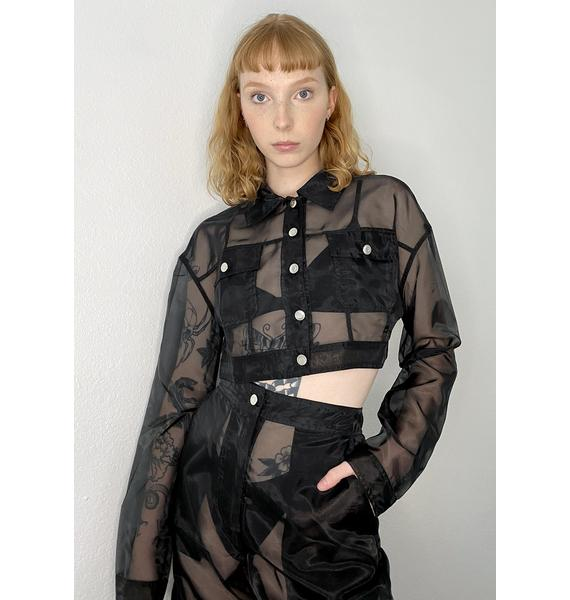 HOROSCOPEZ Take My Chances Organza Jacket