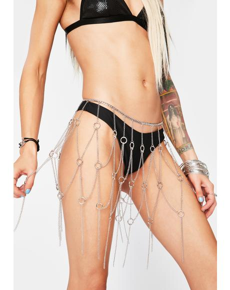 Buckwild Babe Chain Skirt