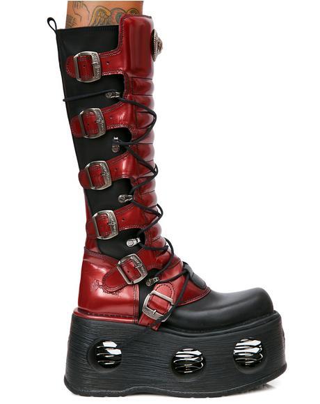 MegaStomp Lace-Up Buckle Boots