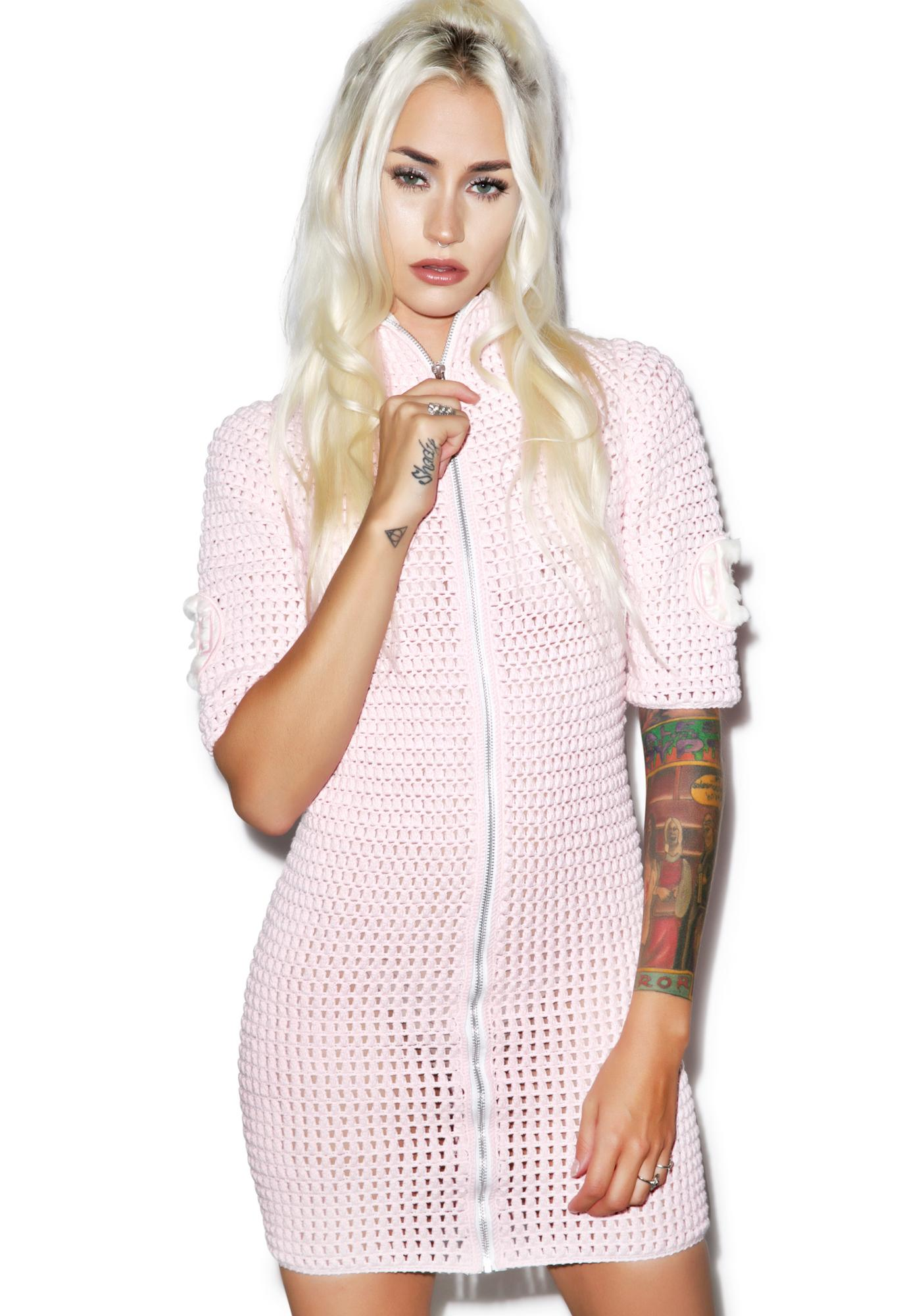 Maria ke Fisherman Crochet Dress