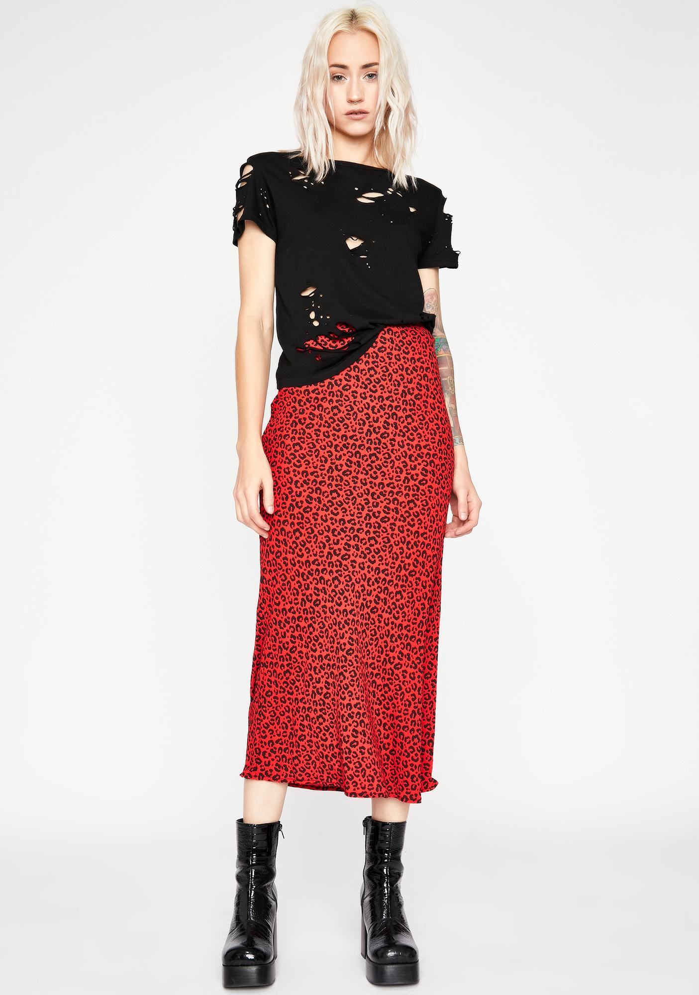 Fierce Fling Midi Skirt