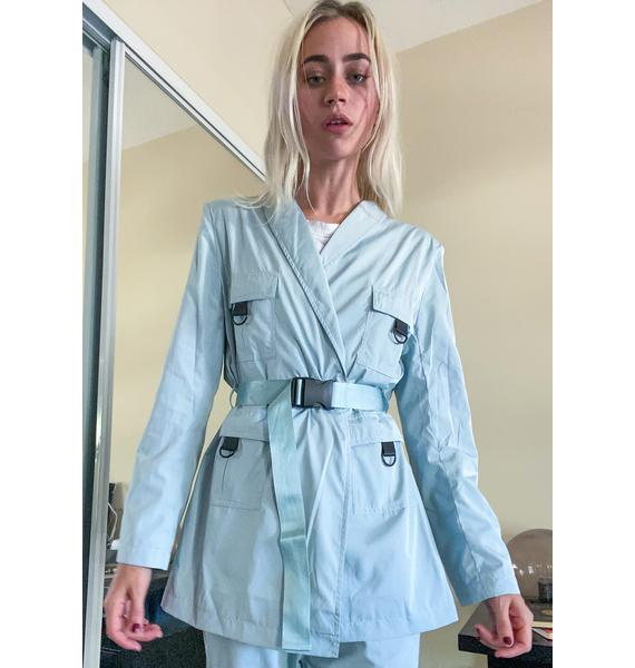 Nana Judy Mint Ascot Blazer Jacket