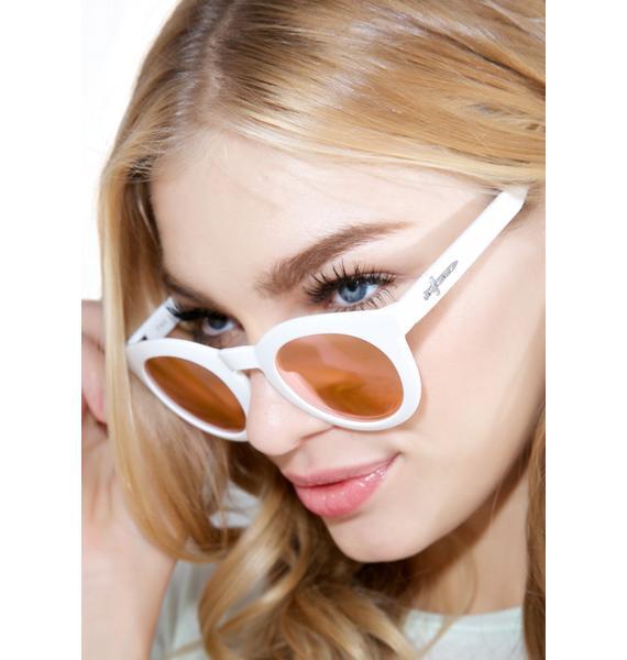 Crap Eyewear The White TV Eye Sunglasses