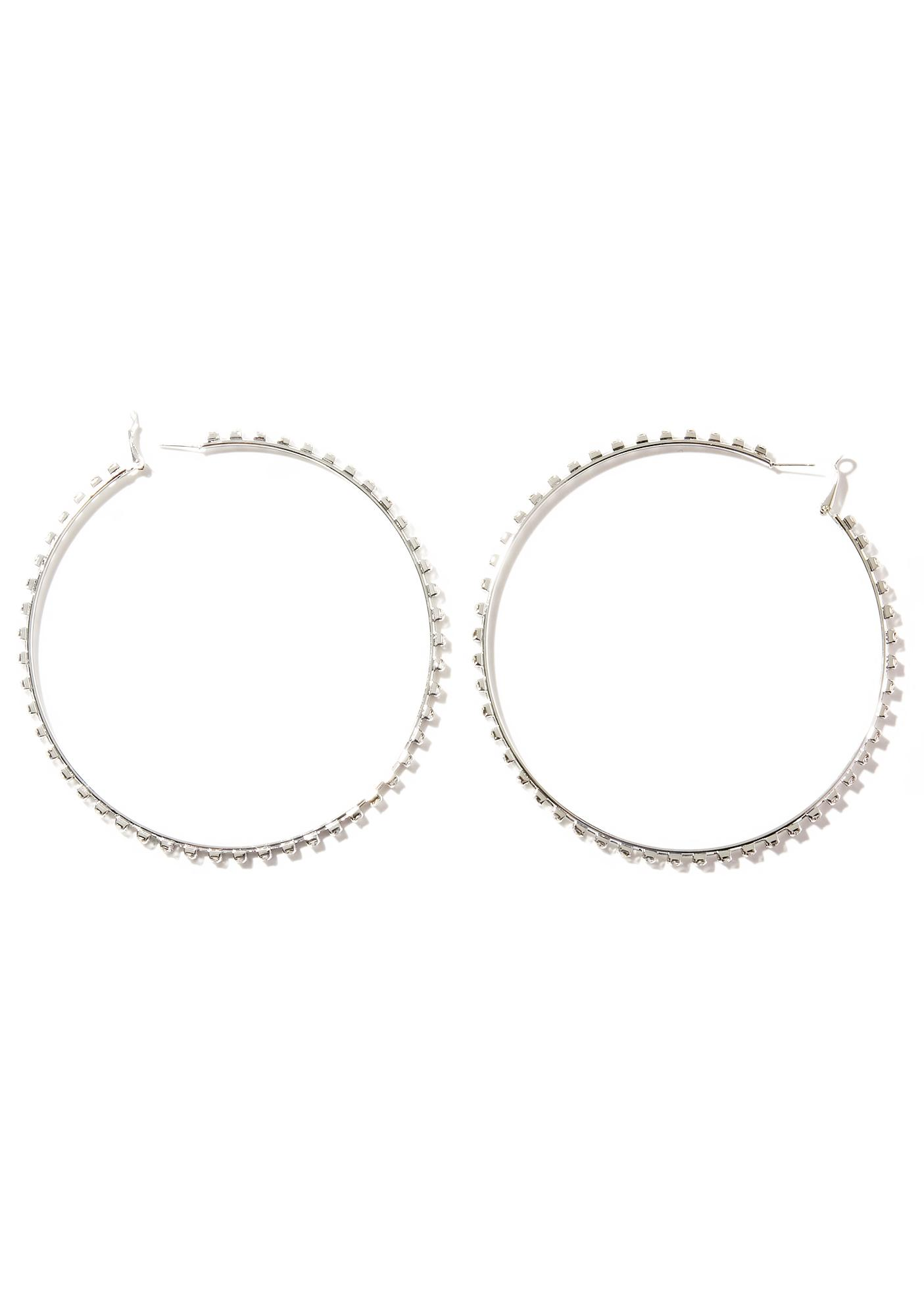 LaBeija Rhinestone Hoop Earrings