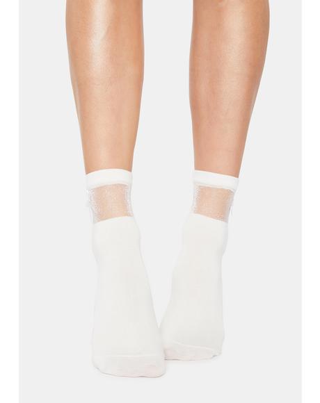 Blanc Cutie Confessions Bow Socks