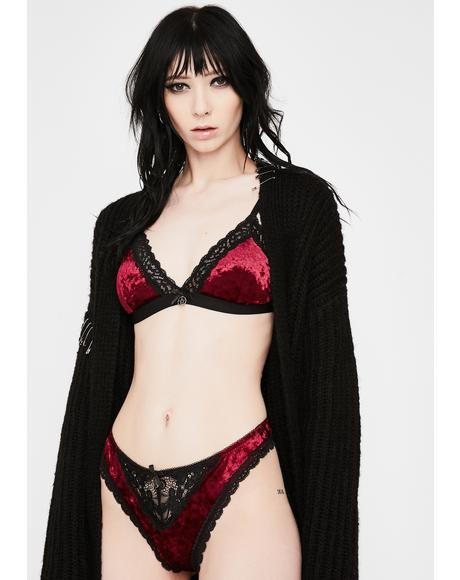 Wine Immortal Velvet Bralette