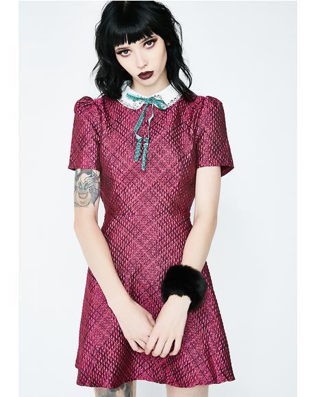 Pink Noise Skater Dress