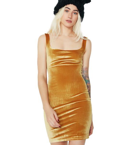 Work For It Velvet Dress