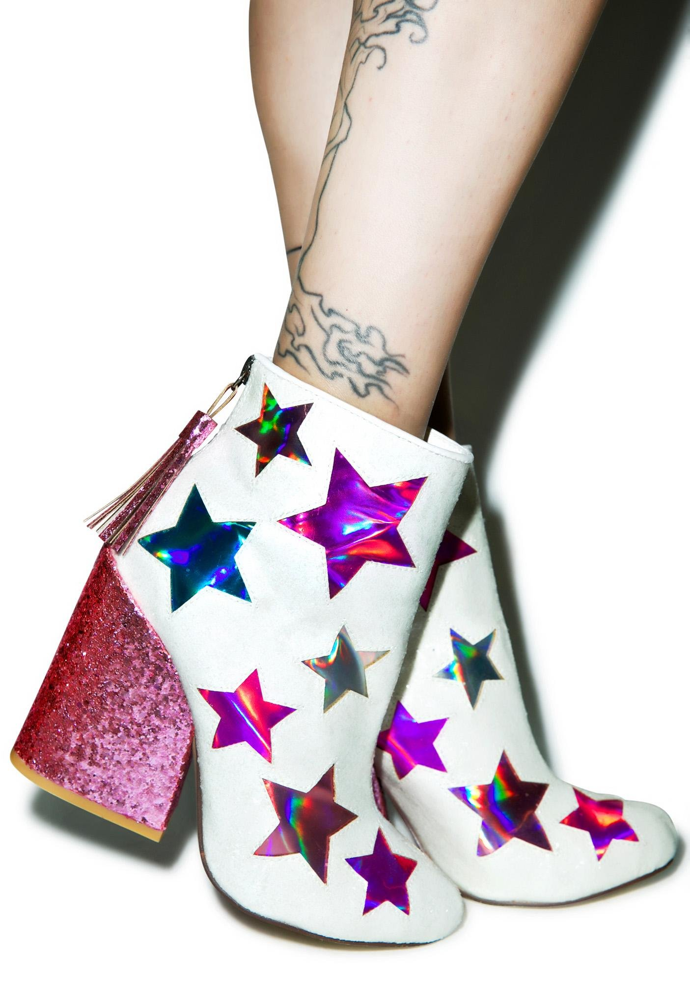 Y.R.U. Gem Star Ankle Boots
