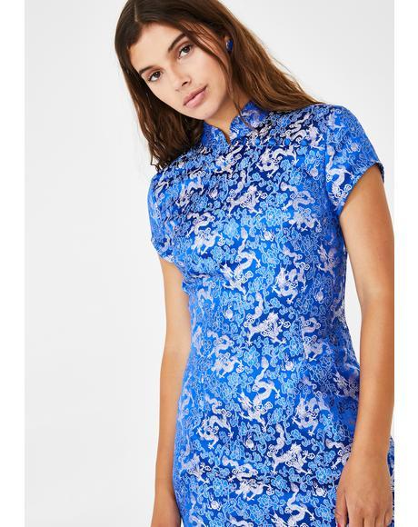 Royally Ever After Brocade Dress