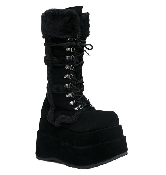 Demonia Full Of Fury Platform Boots