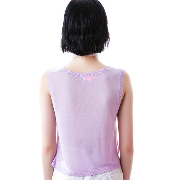Lavender Date Cropped Top