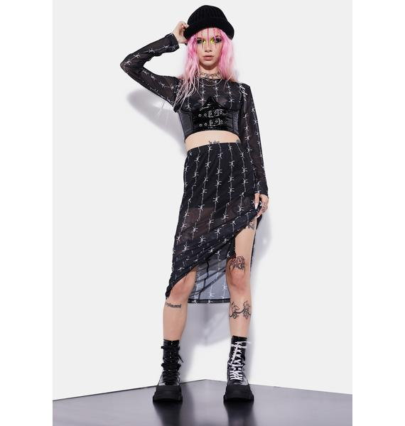Current Mood No Squares Allowed Barbed Wire Skirt