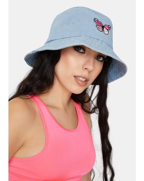 Aqua Flight Risk Denim Bucket Hat