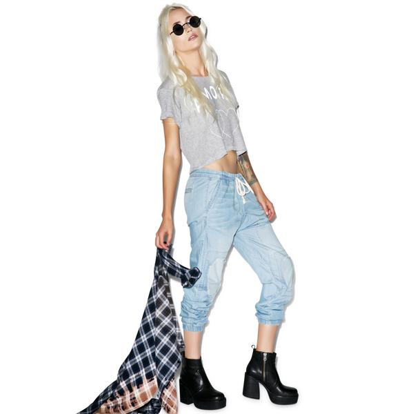 Wildfox Couture Drawstring Chambray Joggers