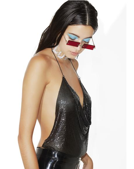 Midnight Luxe Life Halter Top