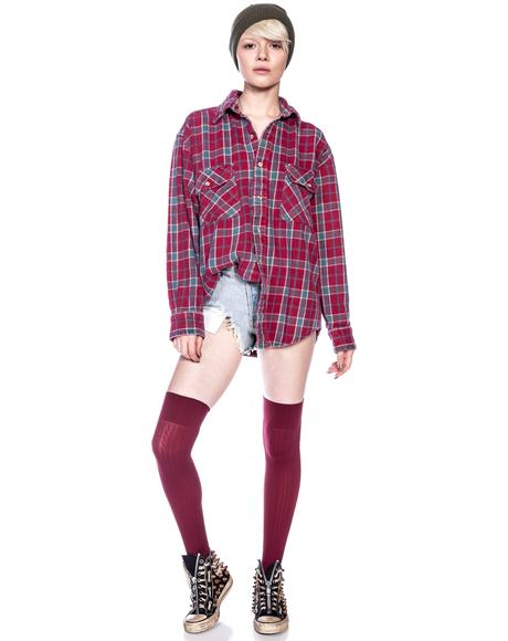 I Hate Everyone Vintage Flannel Shirt