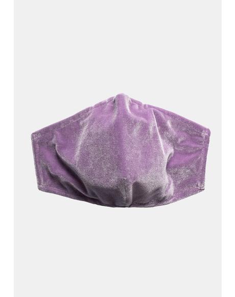 Lavender Velvet Face Mask