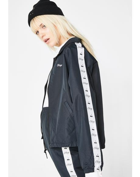 Cerise Track Zip Up Jacket