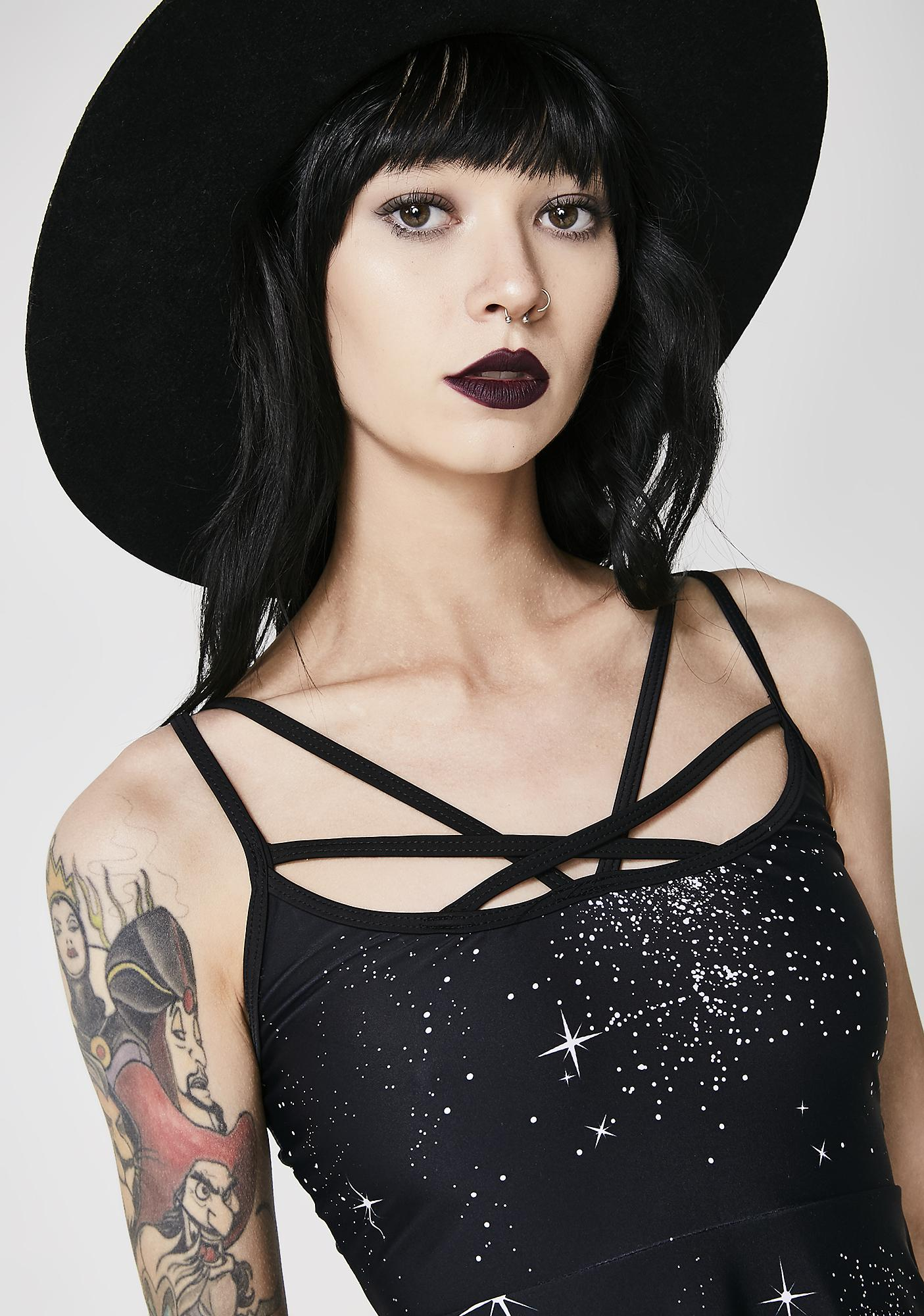 Lunar Eclipse Skater Dress