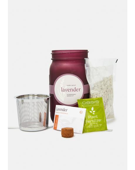 Lavender Garden Jar