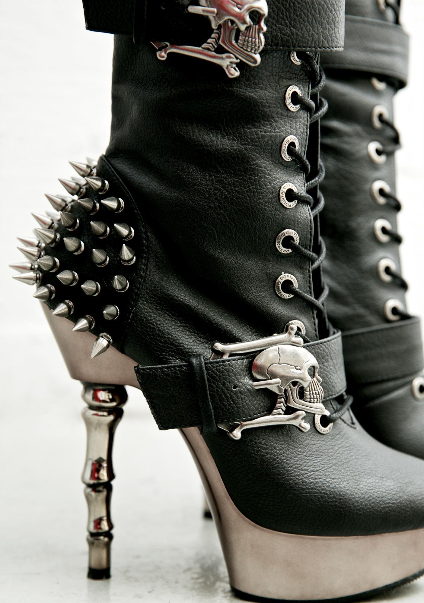 Demonia La Muerta Spiked Boots