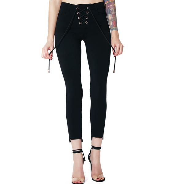 New Flame Lace-Up Pants