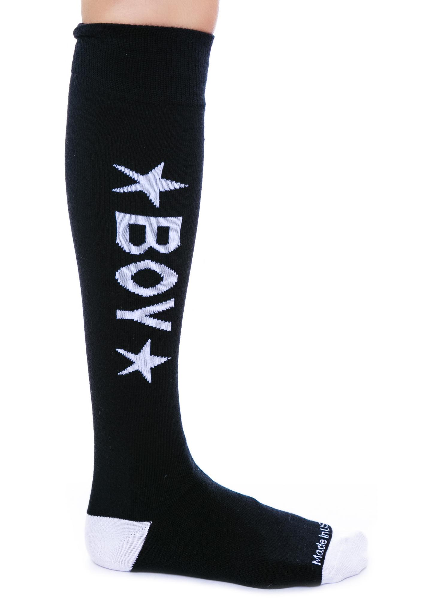 BOY London BOY Star Knee Socks