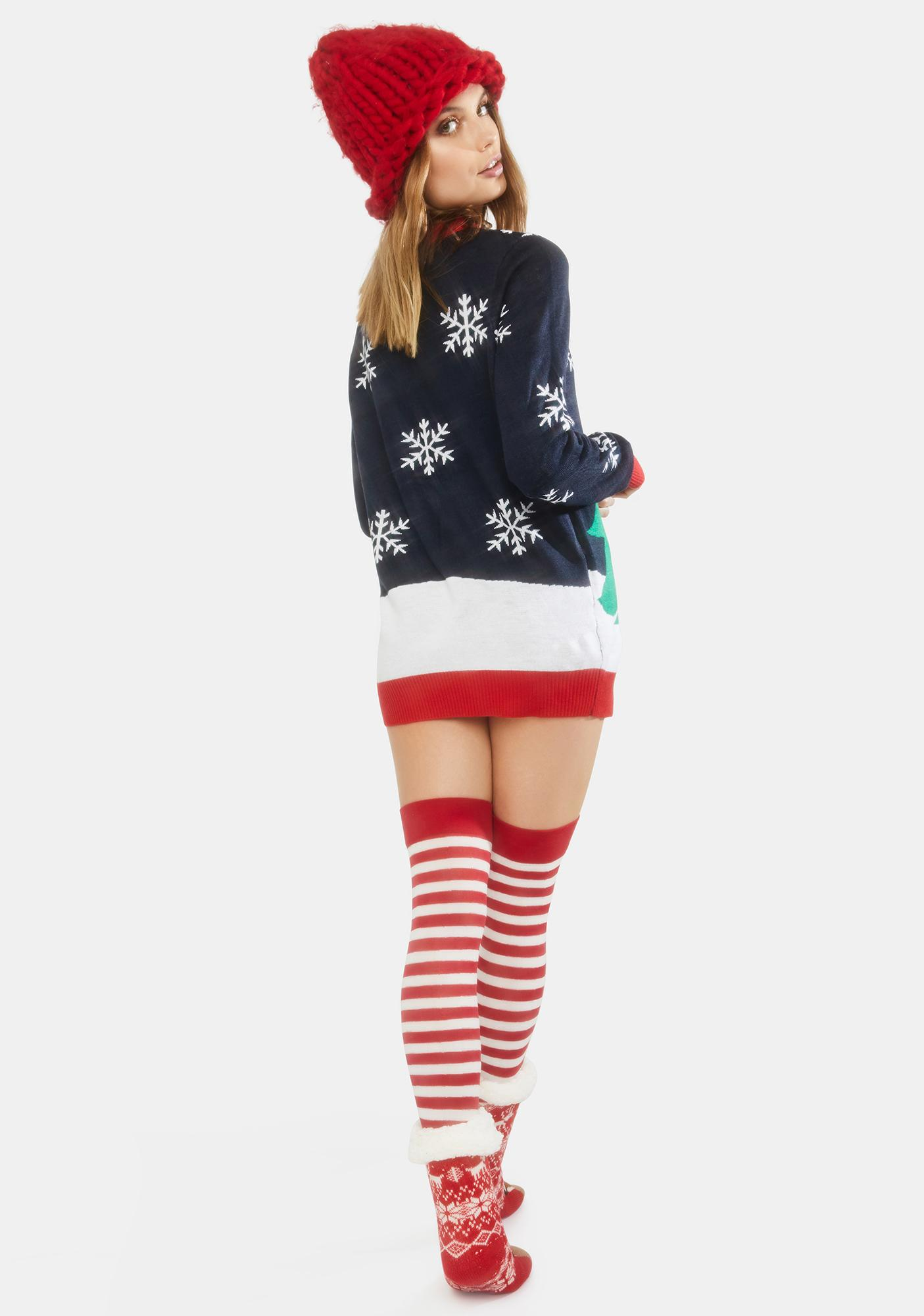 Tipsy Elves Winter Whale Tail Holiday Sweater