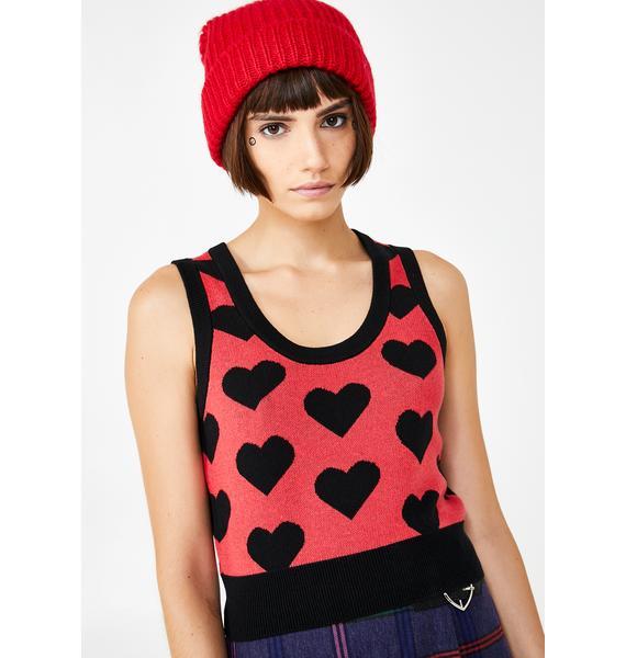Lazy Oaf Knit Heart Tank Top