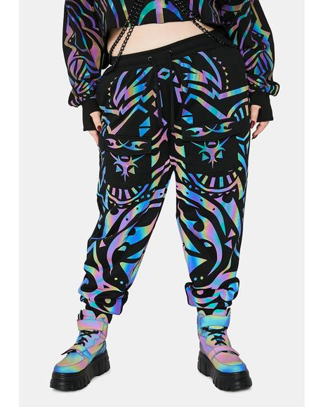 Divine Moon Labyrinth Reflective Joggers