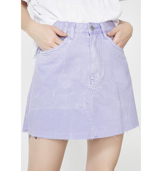 Insight Slater Purple Sasha A-Line Skirt