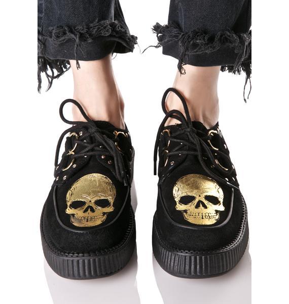 T.U.K. Suede Viva Skull Creepers