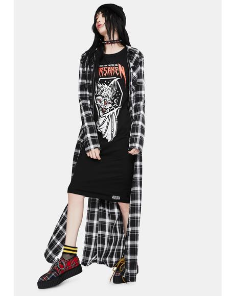 Forsaken Long Sleeve Graphic Dress