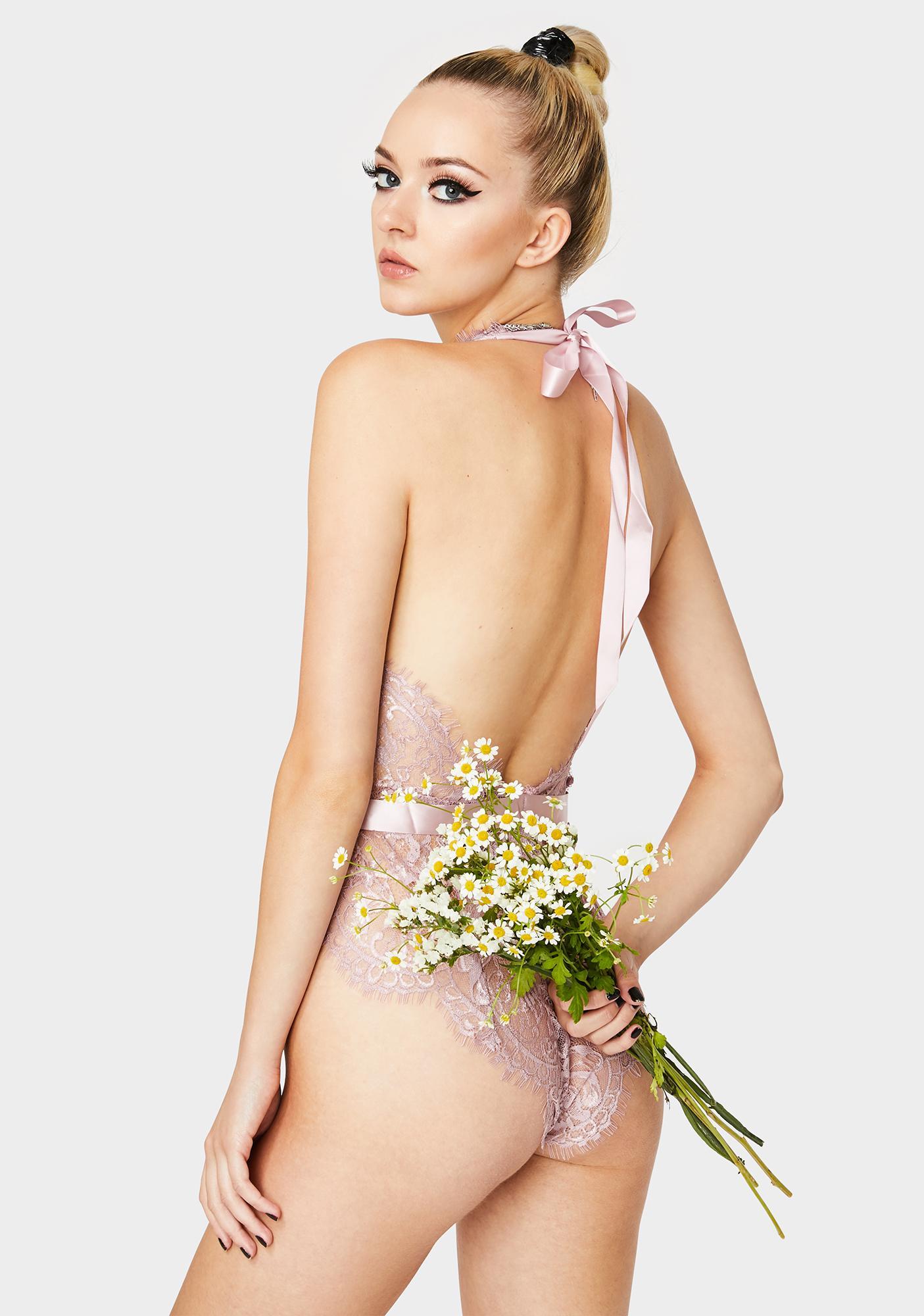 Oh la la Cheri Mauve Very Good Night Lace Teddy