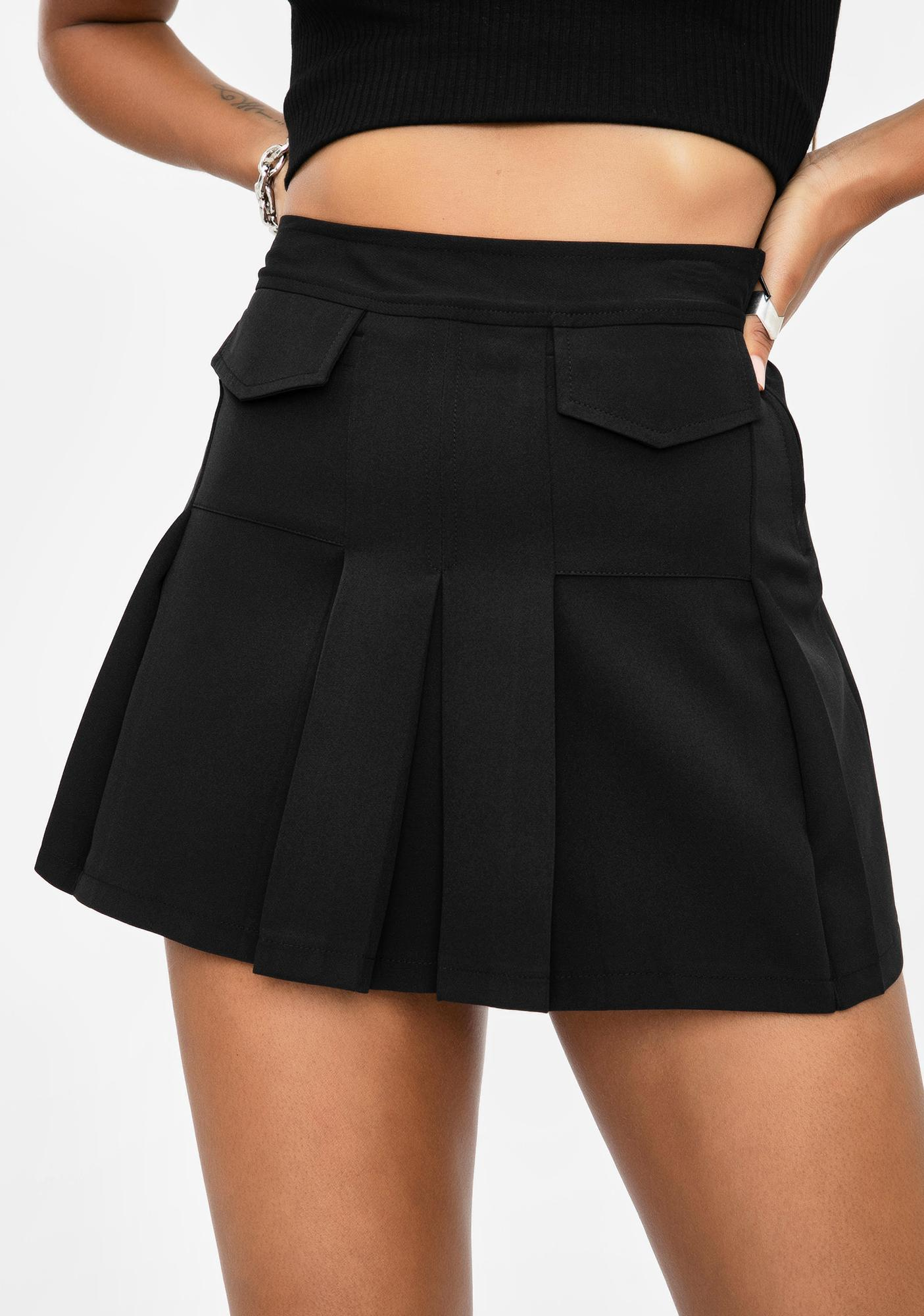 Current Mood Hot For Teacher Pleated Skirt