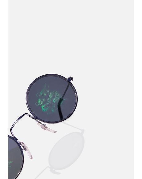 Koala Hologram Round Sunglasses