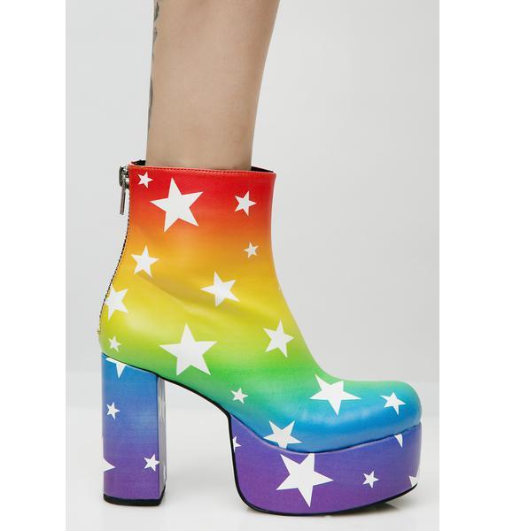 Current Mood Moonbow Platform Boots
