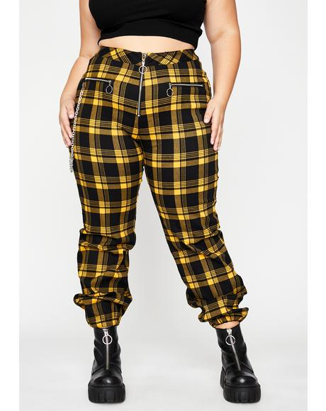 Total Misfit Misconduct Plaid Pants