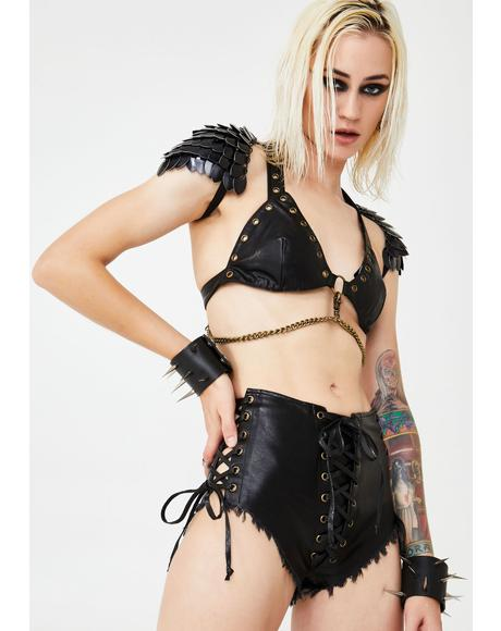 Hardstyle Witch Lace-Up Shorts