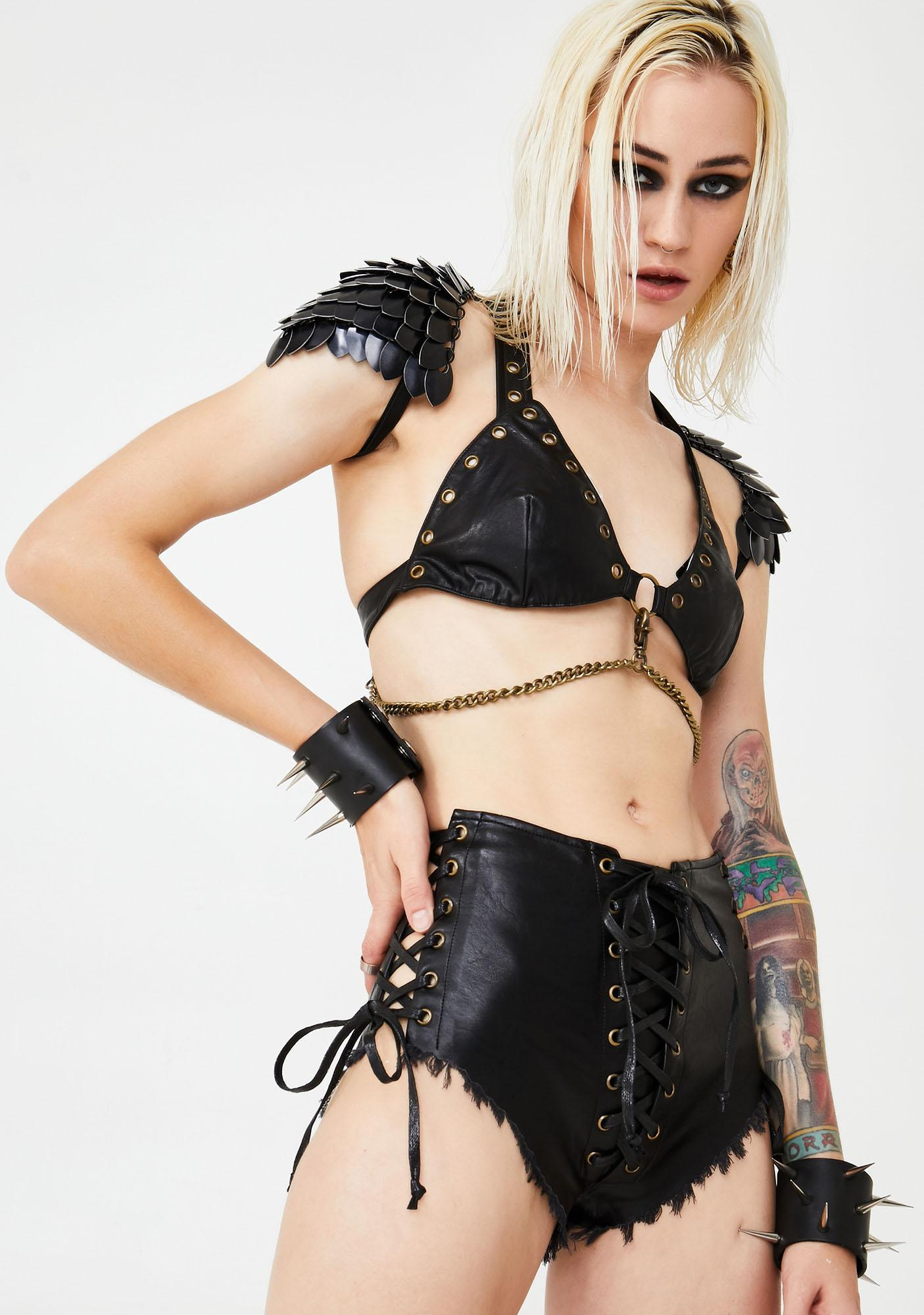 Club Exx Hardstyle Witch Lace-Up Shorts