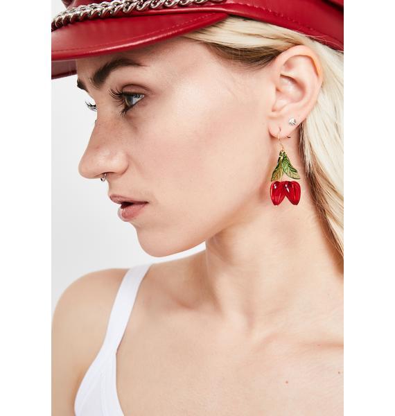 Berry Sweet Cherry Earrings